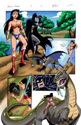 Wonder Woman and Batman Pages by brianb3x