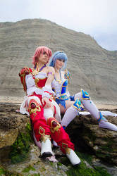 Magic Knight Rayearth - Hikaru Shidou and Umi by KonCookie