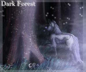 Dark Forest commission for Ninjafoxaustin by Rainwolflover