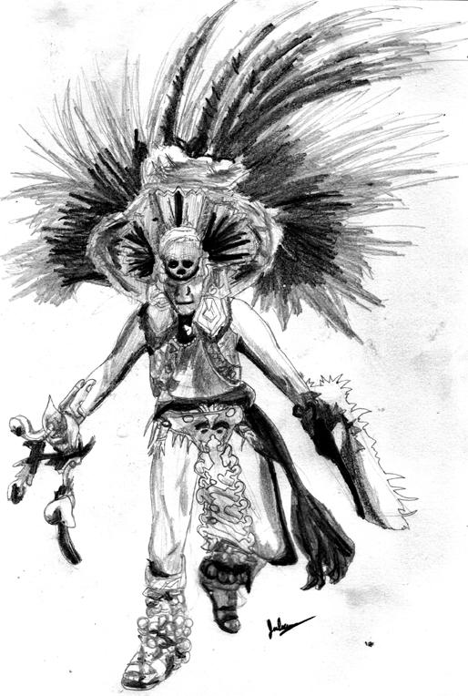 Aztec Dancer by julXart