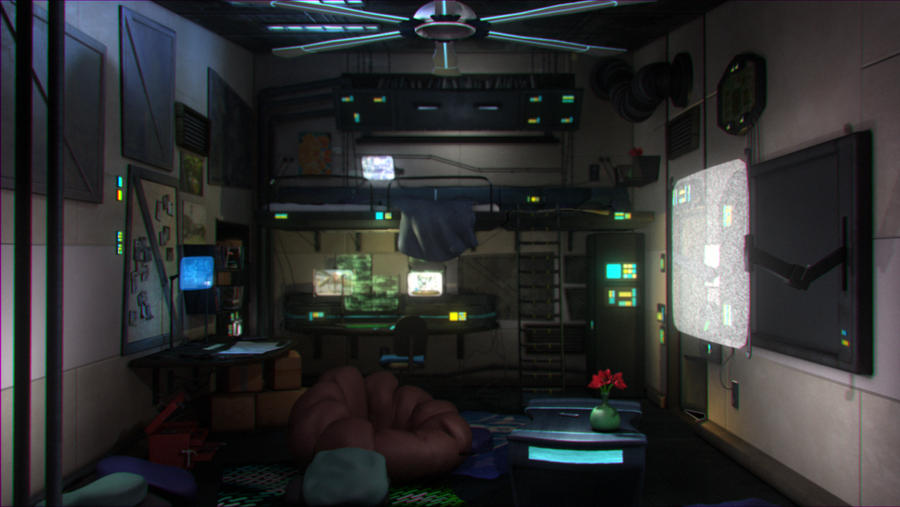 Cyberpunk Bedroom by julXart on DeviantArt