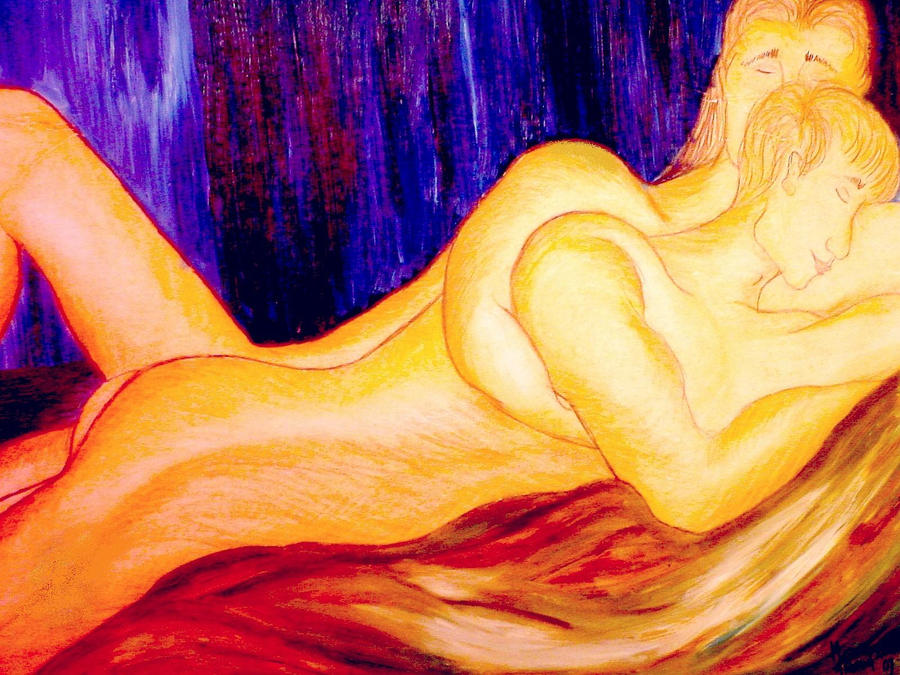 Lovers in Oil by mertonparrish