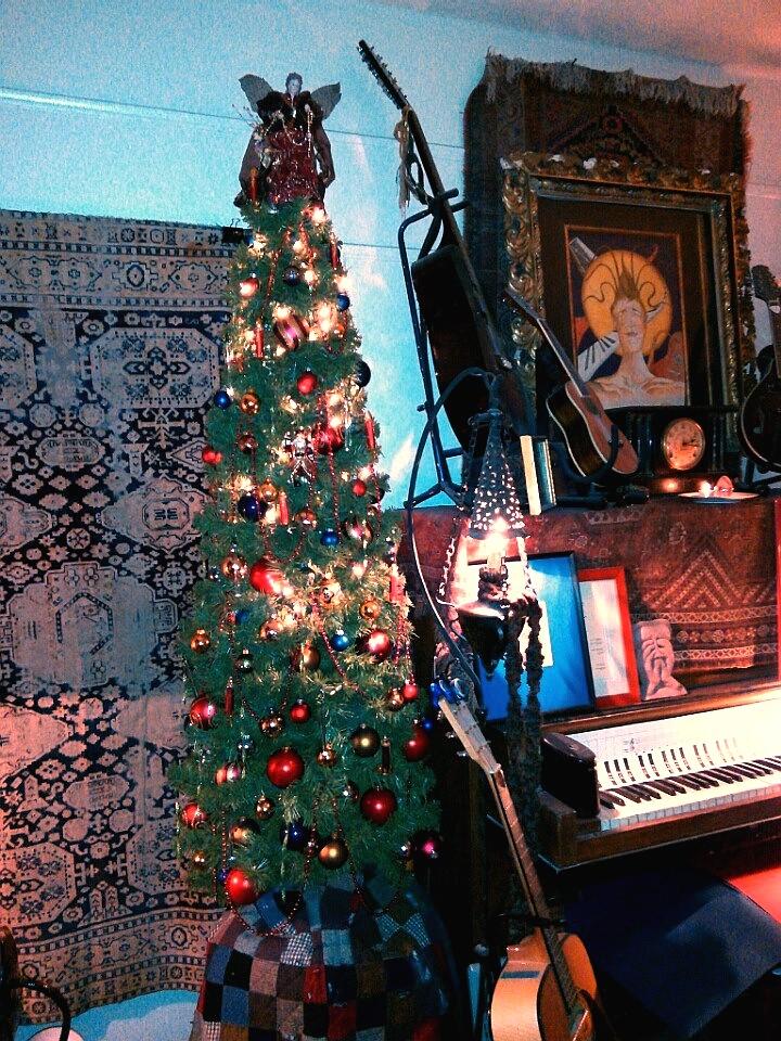 Music Teaching Studio with Christmas Tree by mertonparrish