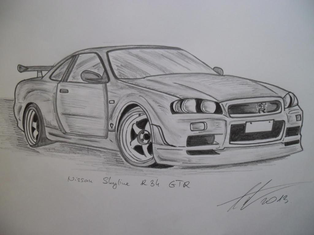 Line Drawing Nissan Gtr : Nissan skyline r gtr vspec my favorite by antevohunter