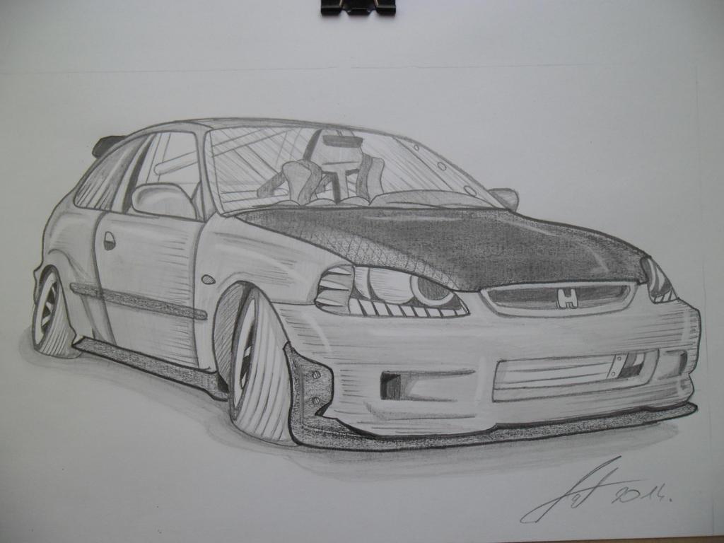 Honda Civic hatchback by Antevohunter