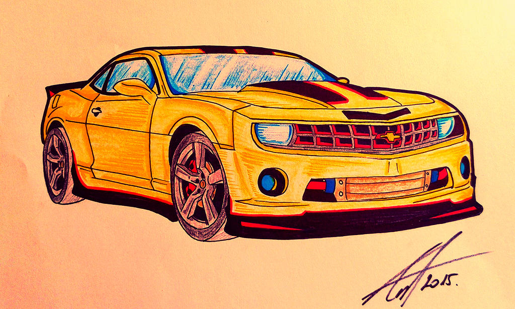 colored Chevy Camaro by Antevohunter