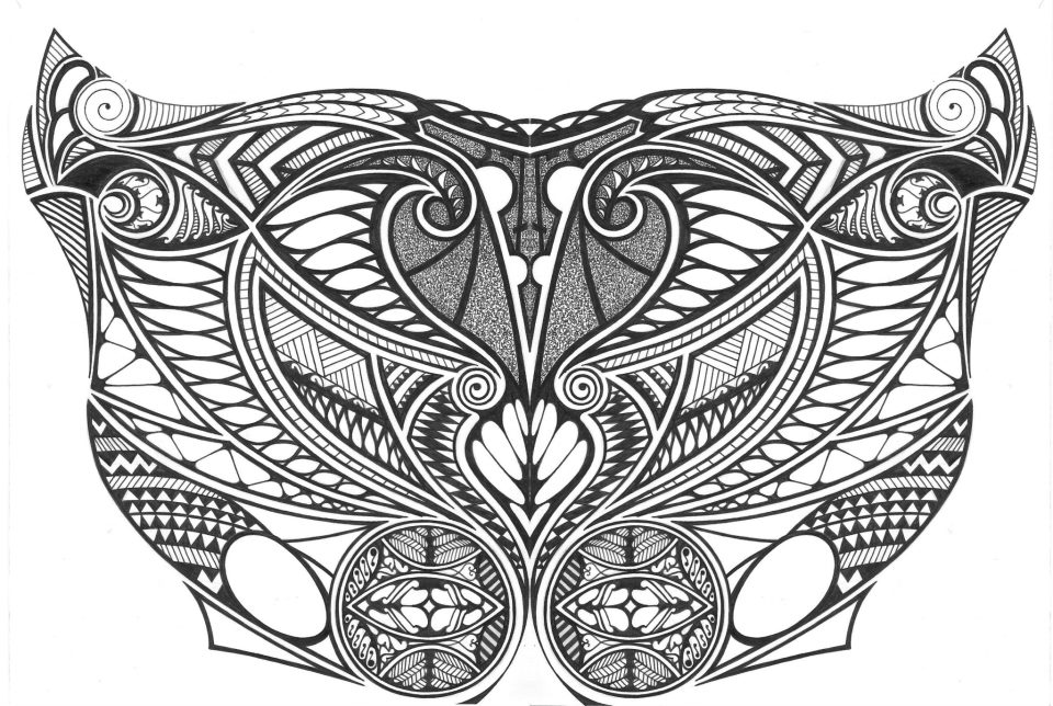 Tribal chest tattoo 1 by tomnight on deviantart for Chest tattoo drawings
