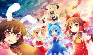 Touhou girls by Juupion