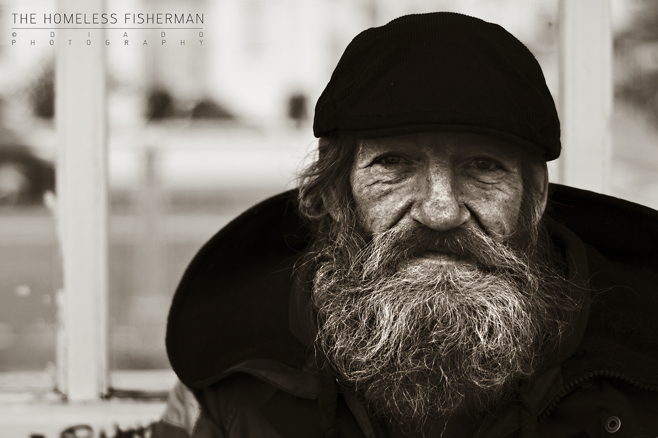 The Homeless Fisherman by diado