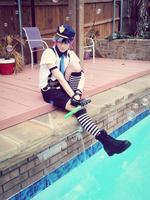 Male Cop Stocking - Cosplay by NipahCos