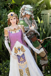 The Princess and her Knight - Zelda/Wolf Link Cos
