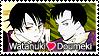 Watanuki + Doumeki Stamp by kathynorrisart