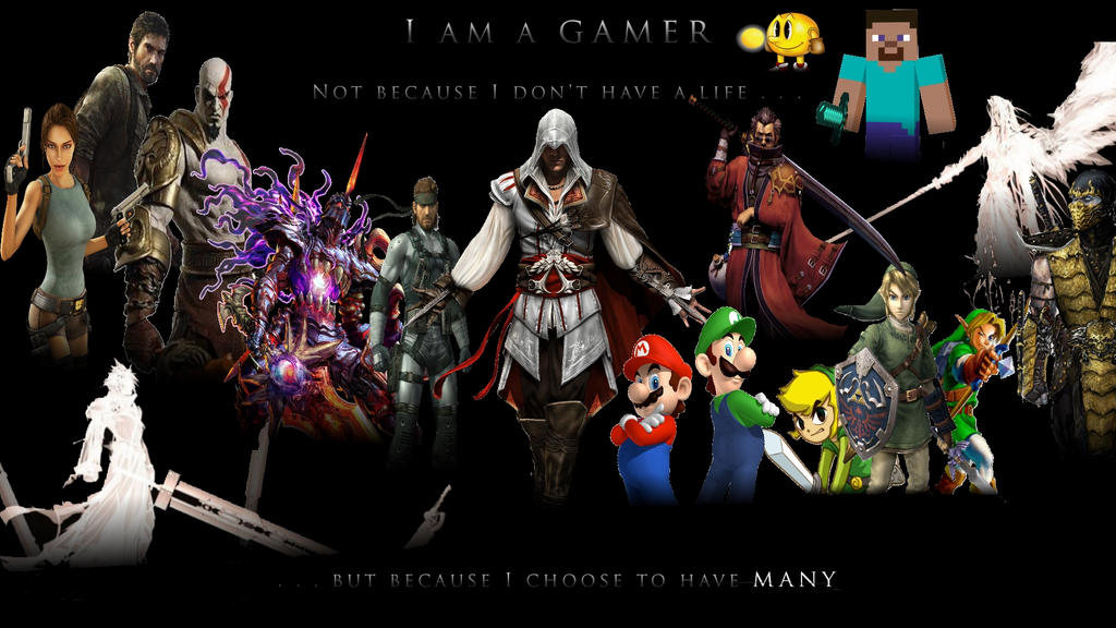 am a Gamer Background by owa666 on DeviantArt