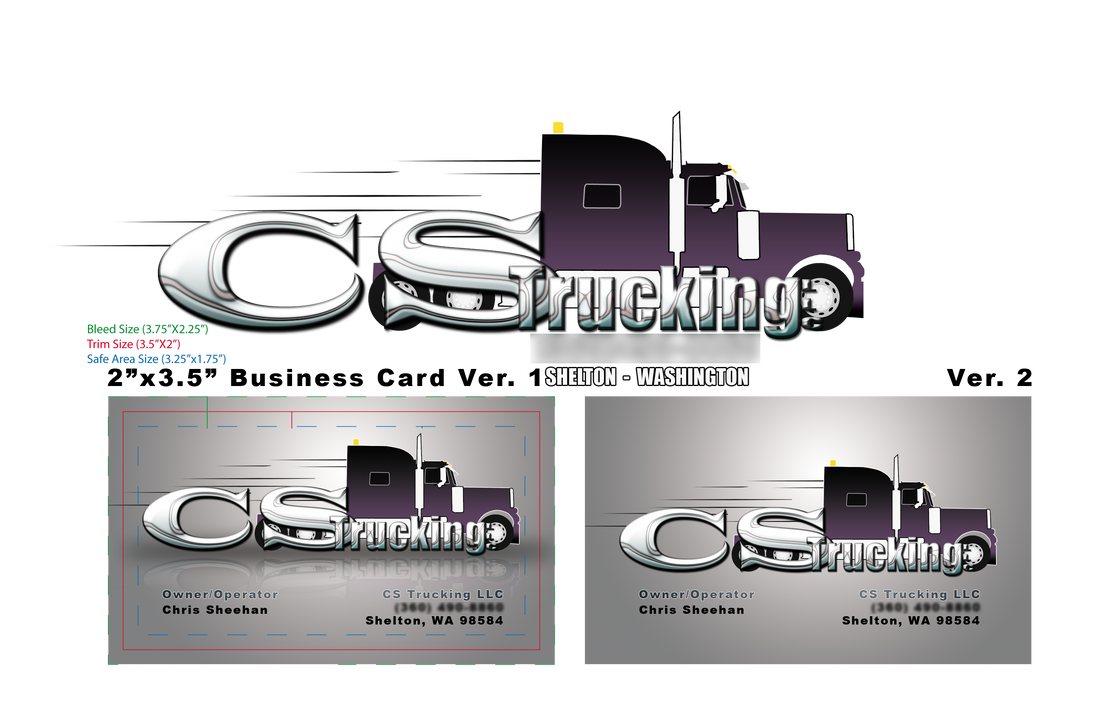 cs trucking business card by fireproofgfx - Trucking Business Cards