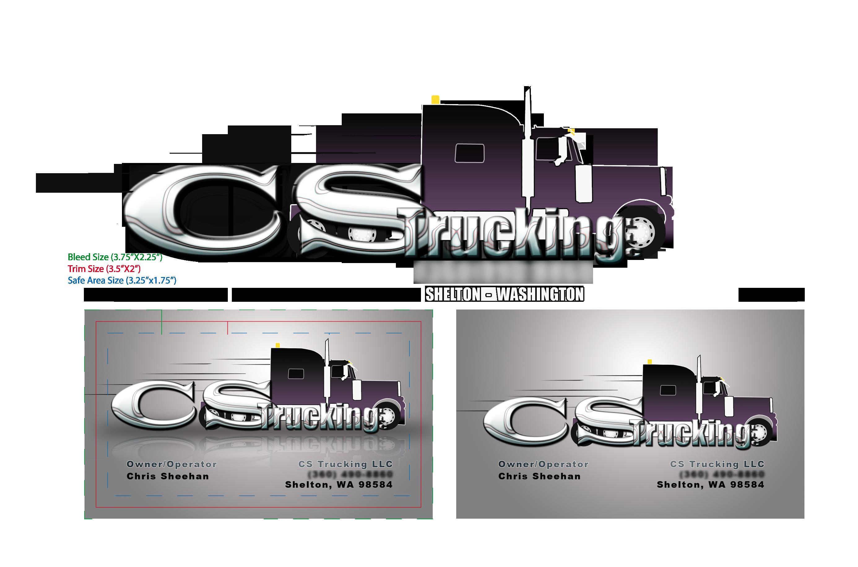 CS Trucking business card by fireproofgfx on DeviantArt