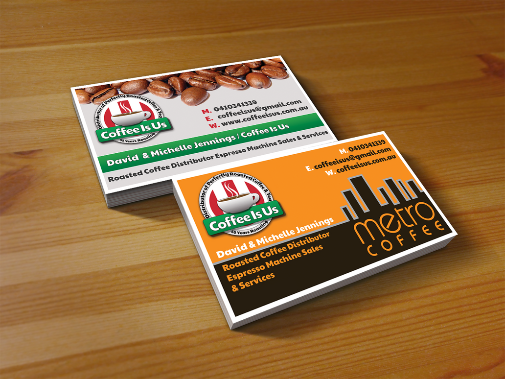 Coffee Is Us Business Card by fireproofgfx on DeviantArt
