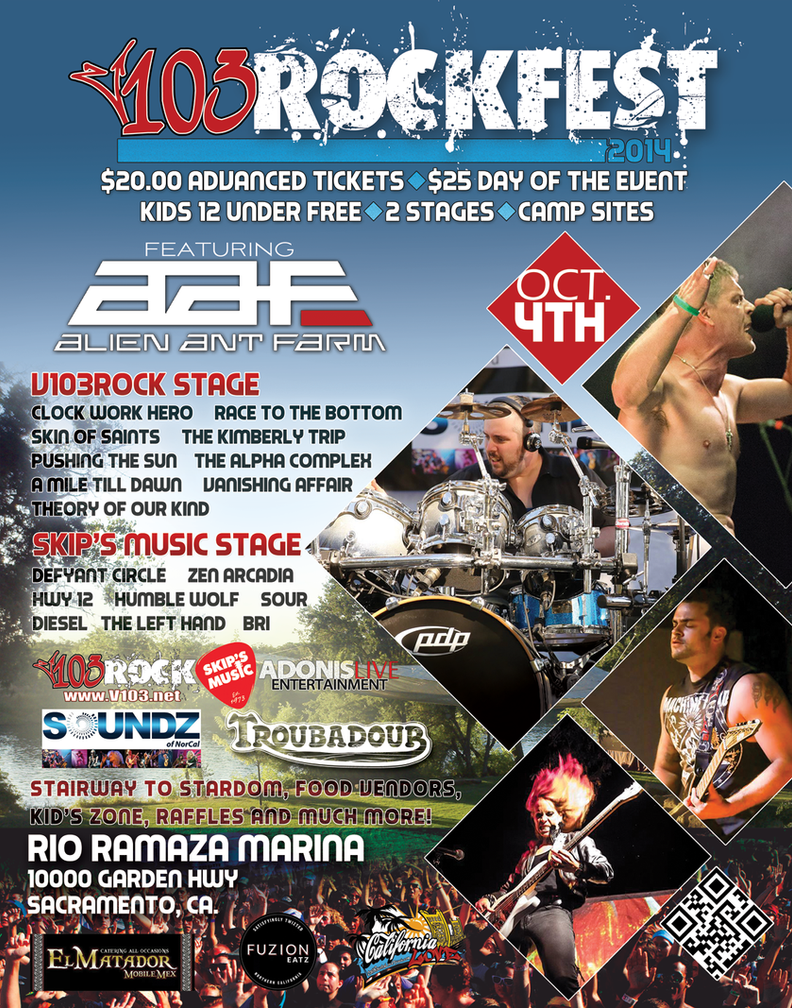 V103 Rockfest Flyer by fireproofgfx