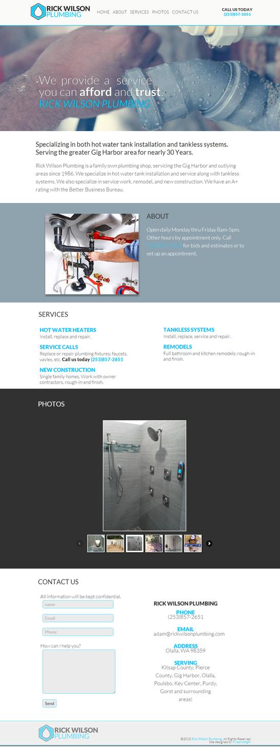 Rick Wilson Plumbing Website by fireproofgfx