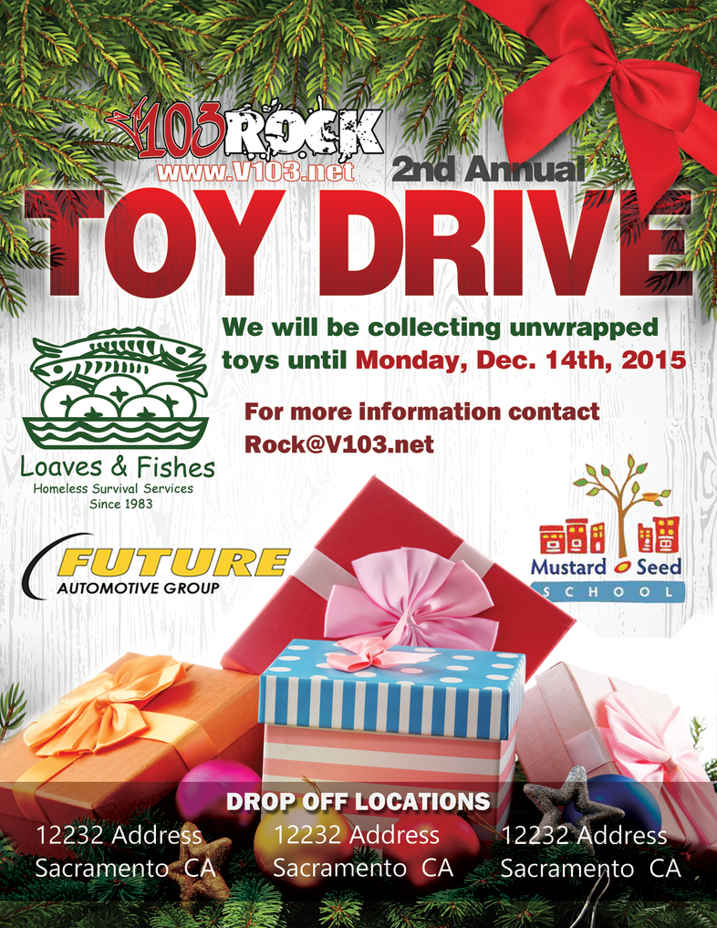 V103 Toy Drive Flyer By Fireproofgfx On Deviantart
