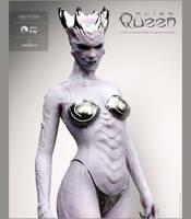 Alien queen White by DAVEYABBO