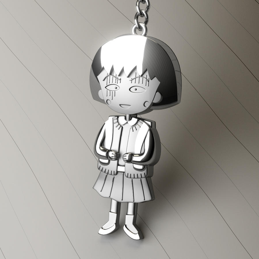 Maruko And Sakiko By Danoblong On Deviantart: Chibi Maruko-chan Pendant By MikeeRice On DeviantArt