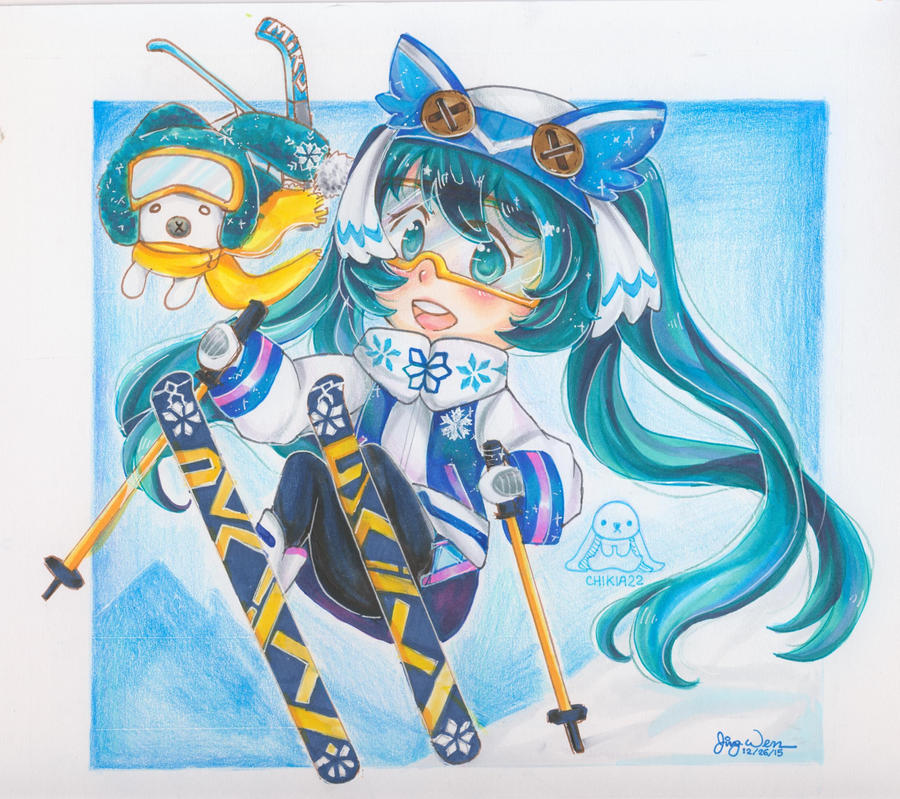 Snow Miku 2016 by chikia22