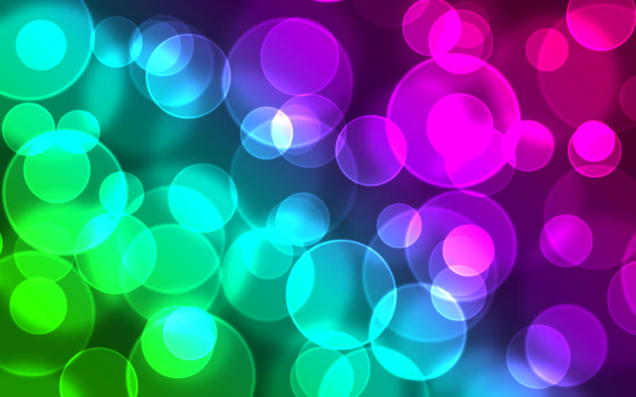 Rainbow Bokeh by tragi...