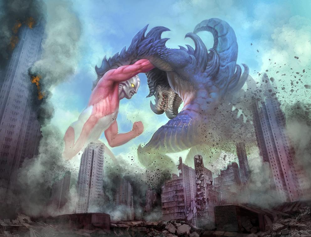 Attack of Ultraman by meteorite8