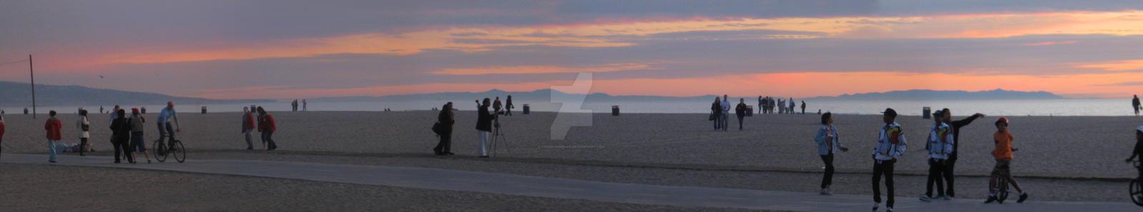 Sun Down on Santa Monica