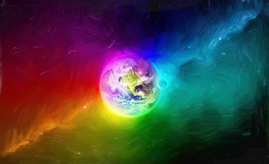 Photo Collection Colorful Planet In The