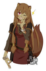 Raphtalia Tongue Boop by lizzicusart