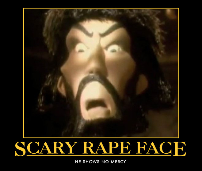 Scary Rape face by orelseyouwilldieplz