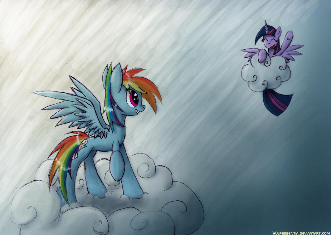 Flying Buddies by Vulpessentia