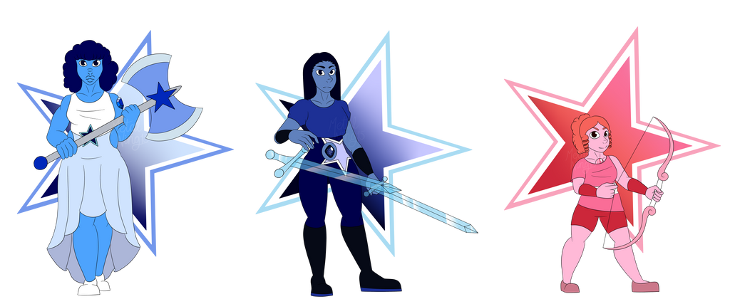 Crystal gems by MetalWing15