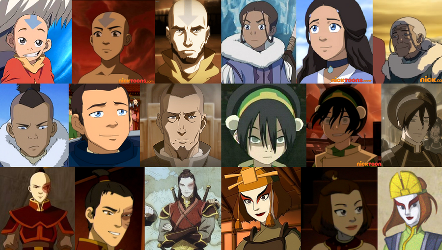 The Gaang through the Ages by Toph-Team-Avatar
