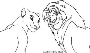Simba and Nala base