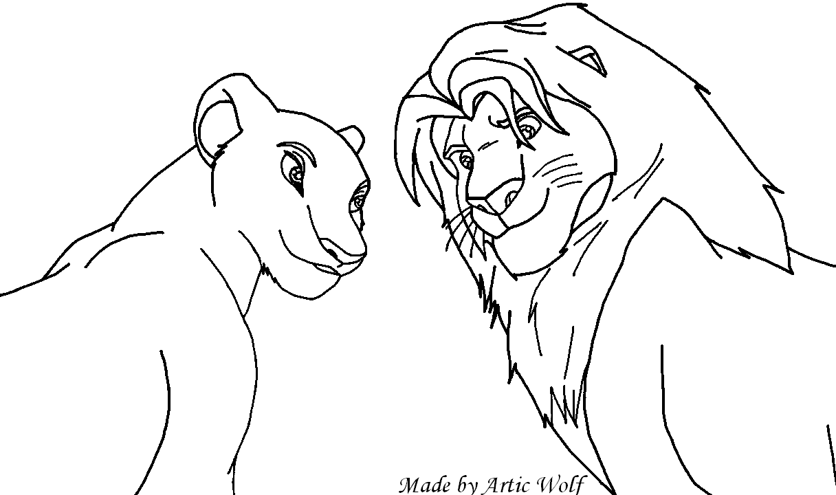 Simba and nala base by articwolf14 on deviantart for Simba and nala coloring pages
