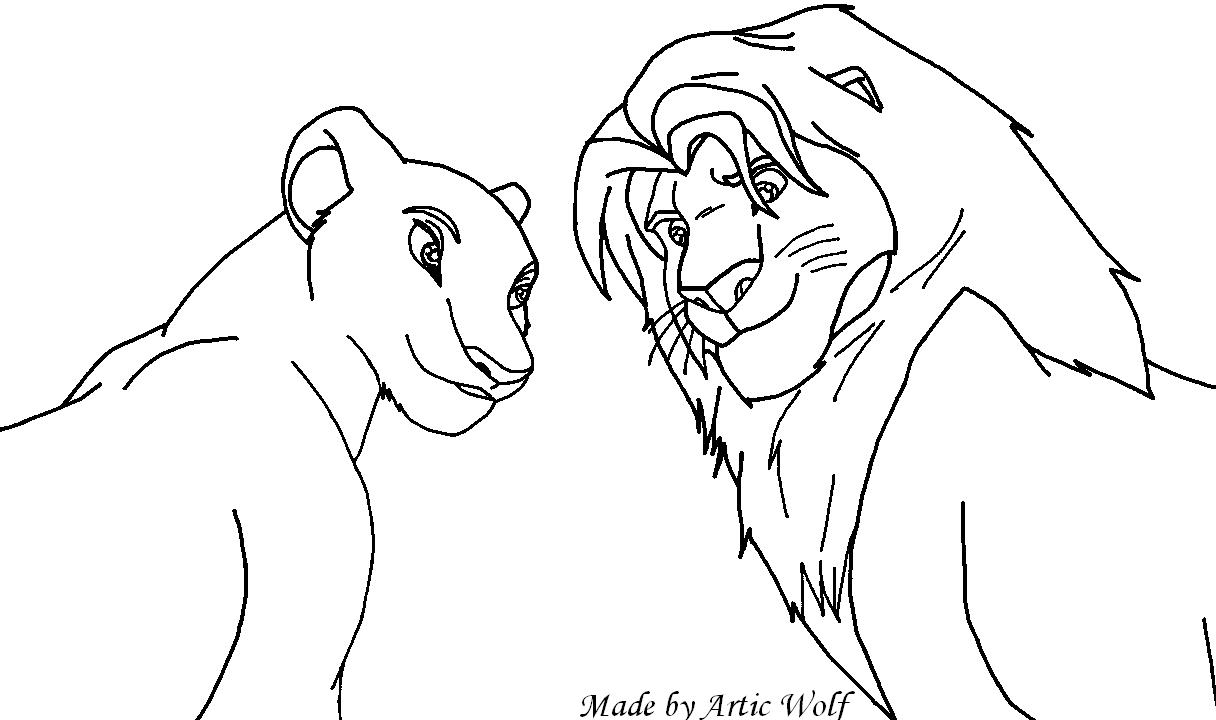 Simba And Nala Base By ArticWolf14 On DeviantArt
