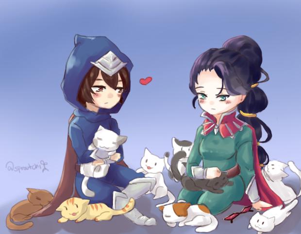 Vayne, Talon and Cats by AbyssmalReader
