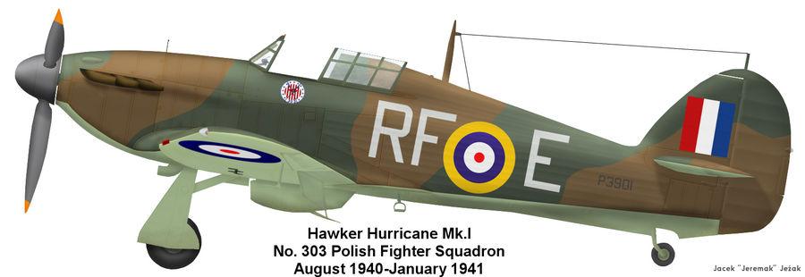 Hawker Hurricane Mk.I, 303th Fighter Squadron