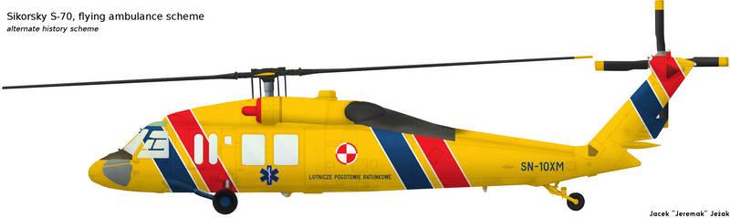 Sikorsky S-70 flying ambulance scheme