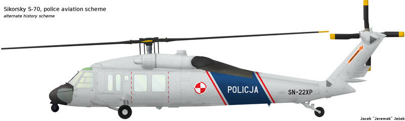 Sikorsky S-70 police scheme