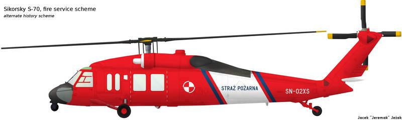 Sikorsky S-70 fire service scheme by Jeremak-J