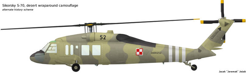 Sikorsky S-70 desert wraparound camouflage