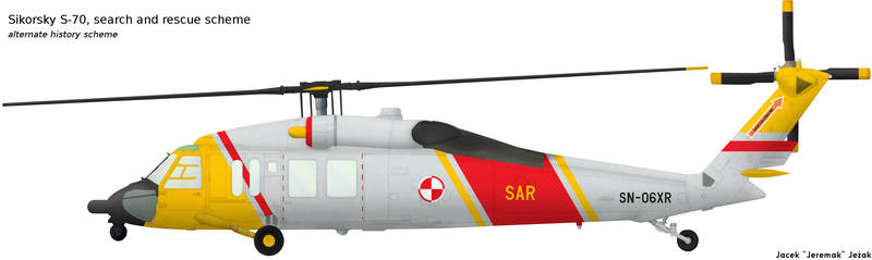 Sikorsky S-70 search and rescue scheme