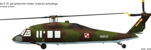 Sikorsky S-70 tropical camouflage