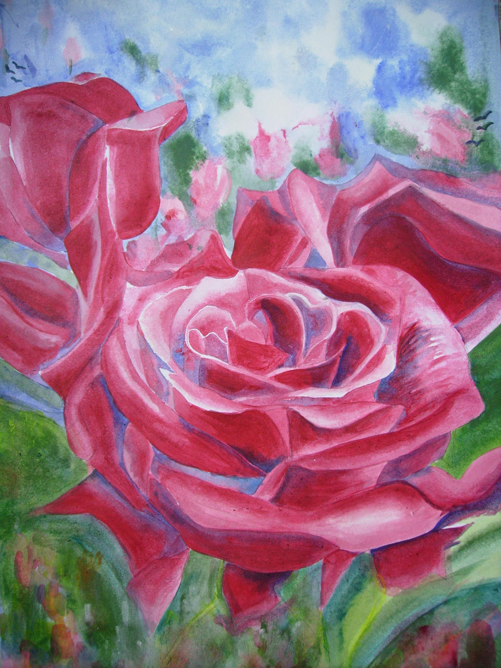 Flowers Painting 2 by i on DeviantArt