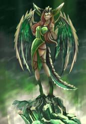 oc concept design - dragon girl by i77310