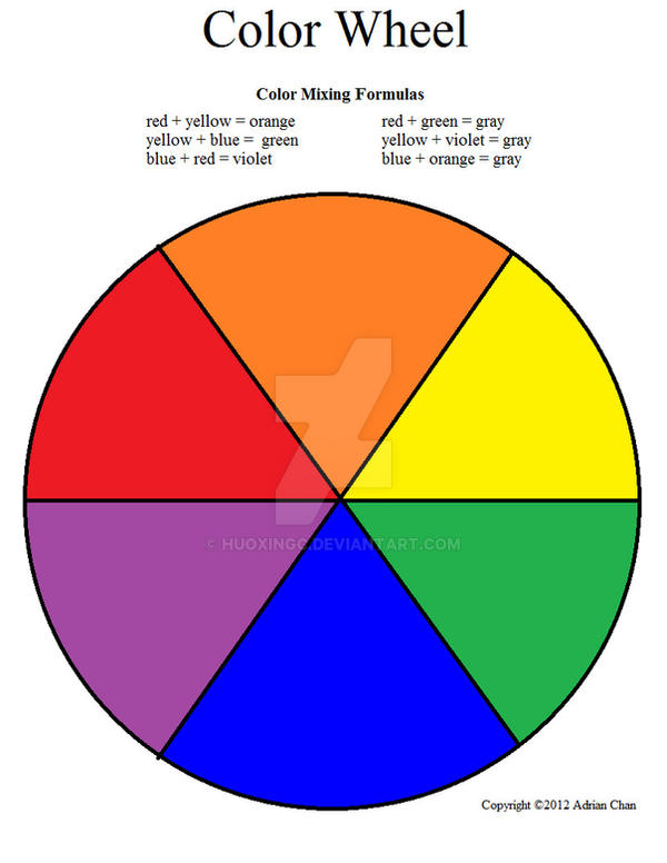 Color Wheel Worksheet Colored by HuoXingC on DeviantArt – Color Wheel Worksheet