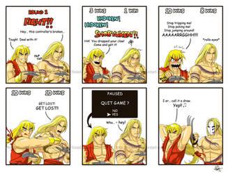 Ken vs Vega... again... by TixieLix